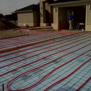 Installation of Outdoor Radiant Heating System
