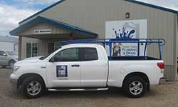 Treasure Valley Plumbing and Drain Service's New Toyota Tunda Service Truck with Blue Pipe Rack