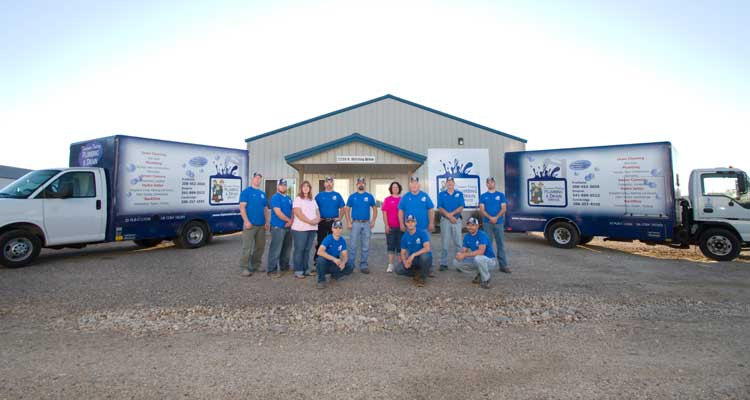 THE CREW AND FLEET FROM TREASURE VALLEY PLUMBING & DRAIN SERVICE